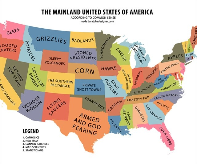 Funny descriptions of each state